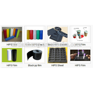 Black Conductive for Technical Blister Packaging HIPS Plastic Film