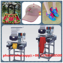 Computador único cabeça chapéu t-shirt liso sapatos luvas roupas máquina de bordar feliz