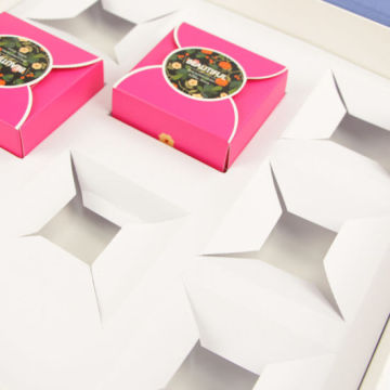 Caixa de papel de empacotamento personalizada do Mooncake do alimento