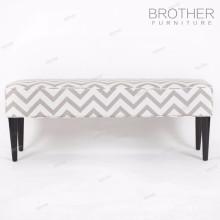 Estofos de mobiliário de hotel de madeira pernas de tecido coberto pufes