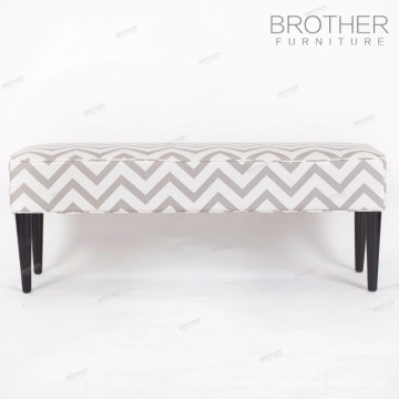 Upholstery hotel furniture wood legs fabric covered ottomans