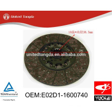 Original Yuchai engine YC4110ZQ clutch Disc E02D1-1600740 for Chinese truck