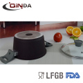 6pcs conjuntos de utensilios de cocina de revestimiento de mármol de inducción inferior forjado