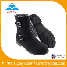Womens Middle High Wedge Heel Grilsl Winter Boots, Warm Knee Boots