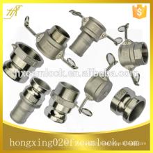 """Accouplement de camlock d'acier inoxydable, fabricant de la Chine, pièces ABCDEF DC DP, taille de 1/2 """"à 8"""""""