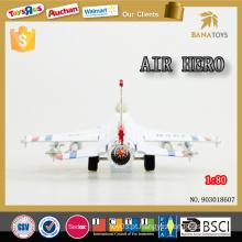 Presente de aniversário atraente 1 80 plano modelo de avião artesanal avião de liga de brinquedo com som e isqueiro