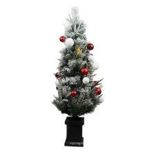 Árbol de navidad plástico superventas feliz 120cm para la puerta de entrada