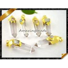 ¡Caliente! ! Nuevo colgante de cristal natural al por mayor asombroso del punto para el collar de cadena (EF0117)