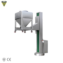 upright ibc bin fixed pharmacecutical fixed hydraulic bin lifter for pharma bin