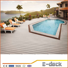 Anti-UV portable Wpc wood plastic composite outdoor flooring decking with high quality for swimming pool