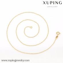42614 - Xuping Простой Дизайн Женщины Мода Тонкий Цепь Золото Бисера Ожерелья