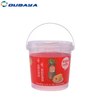 ice cream plastic bucket for food