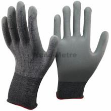 Luvas seguras da mão da segurança melhorada do corte do nitrilo revestido de NNMSAFETY