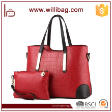 Alibaba China Women PU Leather Purses And Handbag Set