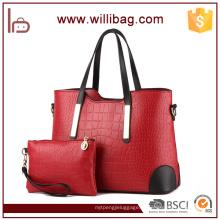 Alibaba Китай женщины PU кожаные кошельки и сумки комплект