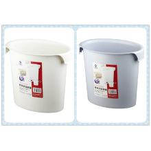 Oval Open Top Kunststoff Abfalleimer mit Haken (FF-5203)