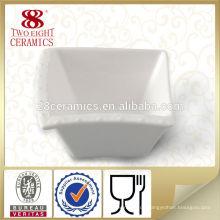Flache quadratische kleine weiße keramische Schüsselschüsseln des Porzellans für Restaurant