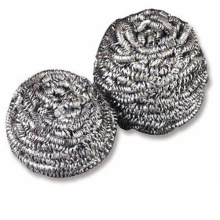 stainless steel scourer scrubber dish cleaning ball