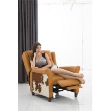 Mobília reclinável elétrica de cor dourada