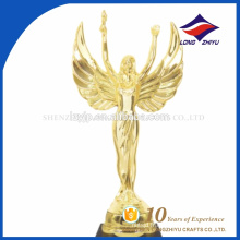 Custom 3d Gold Unique Angel wings Design Oscar Trophy