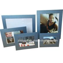 5X7 Azul Textured Art Paper Marco de fotos promocionales regalo