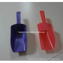 Neueste Mini Plastik Haustierfutter Schaufel, Haustier Spielzeug