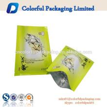 Venta caliente de fábrica precio de fábrica logotipo de la bolsita de papel de aluminio facial ojo máscaras cosméticas de empaquetado