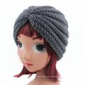 Children Kids Knitted Hat Cross Crochet Turban Bonnet Dome Winter India Cap Warm Hat (HW630)