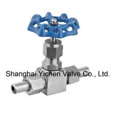 Ampliamente use válvula de aguja de gas de acero inoxidable multiuso (YCZJ11W)