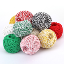 1.5mm cotton rope macrame cord 1.5mm two-color color cotton packaging thread holiday decoration rope
