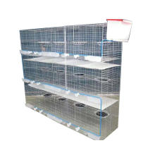 Metal Wire Mesh Bird Pigeon Breeding Cage Fence Water Nipple  for the Birds 3 Tiers H Type