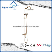 Polished Rose Gold Bathroom Shower Wall Mount Faucet