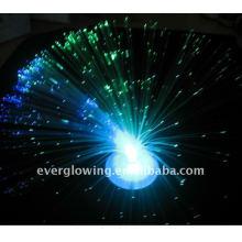 luz conduzida que pisca a flor da fibra ótica