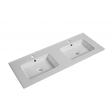 Modern Rectangular Double sink bathroom Basin