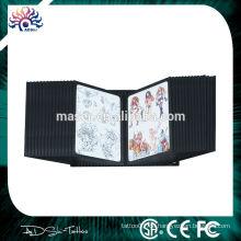 China Fertigungsunternehmen Versorgung 28 doppelte Seitenscheiben Wand Tattoo Flash Rack, Bild Zeichnung Display Stand Regal Tattoo Buch