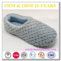 Soft pale waffle suede sole warm indoor woman slipper