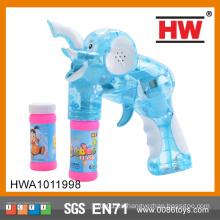 El jabón con pilas del juguete del arma de la burbuja de la alta calidad el 15CM llevó el arma de la burbuja