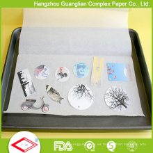 Papel de cocina y papel para hornear aprobado por la FDA 40GSM