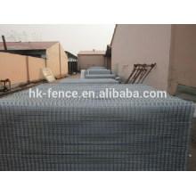 Treillis de clôture de fil de 3D enduit plus épais de PVC avec des brides de poteau de bride métalliques