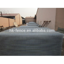 Pvc thicker coated 3D wire fence trellis with flange post metal clamps