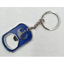 Porte-clés en métal avec ouvre-bouteille et couleur émaillée injectable