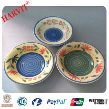 flower hand painting stoneware soup bowl