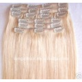 wholesale price blonde clip in human hair extension