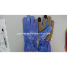 Lycra Fabric Glove-Nubuck Palm Glove-Garden Glove-Labor Glove-Work Glove