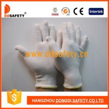 Gants de sécurité en nylon blanc de calibre 13 avec prix compétitif (DCH129)