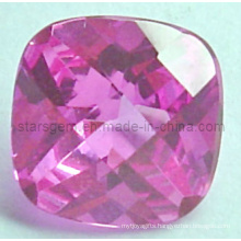 Stunning Square Brilliant Cut Pinky Cubic Zircon