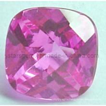 Stunning Square Brilliant Cut Pinky Cubic Zircon