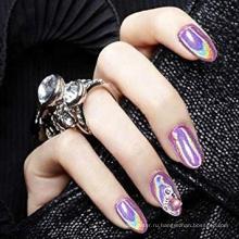 Голографический порошок Rainbow Chrome Nails Пудра для маникюра высшего сорта