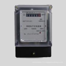 Compteur d'énergie statique électronique LCD Uniphase Two Wires