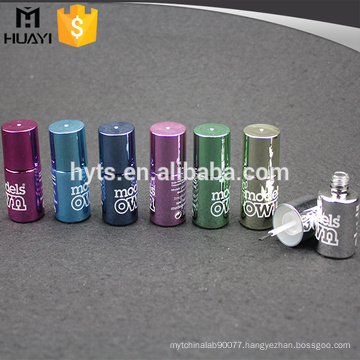 custom design round shape empty uv gel nail polish glass bottle
